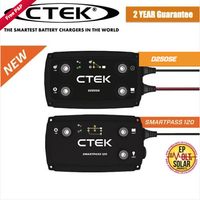 NEW CTEK D250sa Dual Charger & SmartPass Combined Set