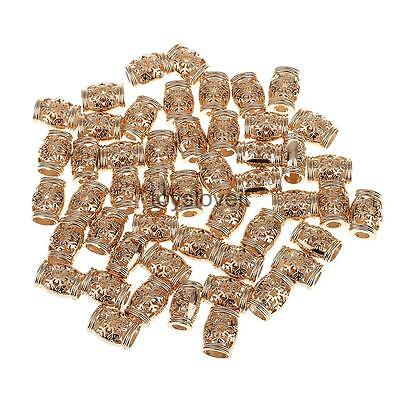 50pcs 15.5mm Gold Plated Barrel Leather Cord Ends Cord End Cap Lobster Clasp