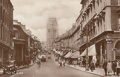 Park Street, Bristol, Real photo, old postcard, unposted