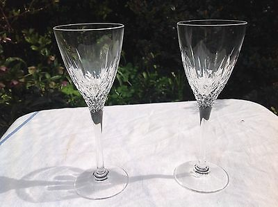 "A pair of Stuart Crystal Wine glass ""Madison pattern"" 7 1/2"""