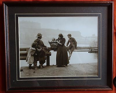 Frank Meadows Sutcliffe Framed Photograph c1901 'Harbourside Family'