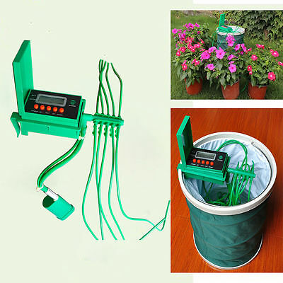 Automatic Micro Home Drip Irrigation System Sprinkler Water Timer Controller HOT