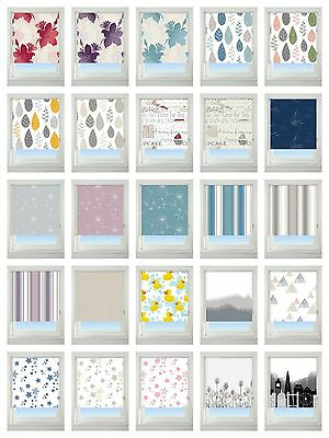 EASY FIT BLACKOUT PATTERNED ROLLER BLIND, 5 WIDTHS ALL 170cm drop EASY TO TRIM