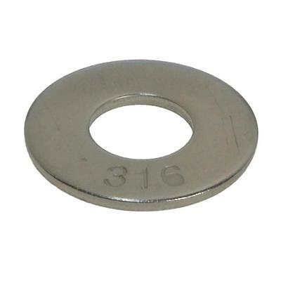 "Mudguard Washer 3/8"" x 2 x 3mm Imperial Penny Marine Stainless Steel G316"