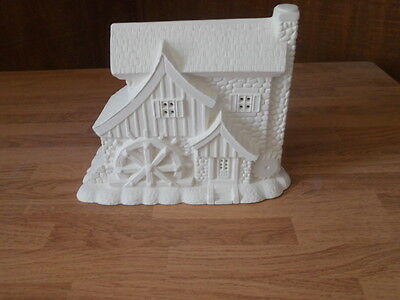 C-0256 Village Saw Mill Ceramic Bisque Ready to Paint