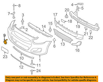 HYUNDAI OEM 12-14 Accent Front Bumper-Tow Eye Cap Cover 865171R000