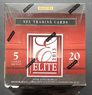 Panini Elite Football 2013 NFL Box 4x Hits per Box