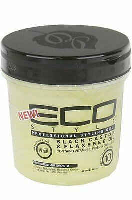 New ECO Styler Professional Styling Black Castor & Flaxseed Oil Max Hold 16 Oz.