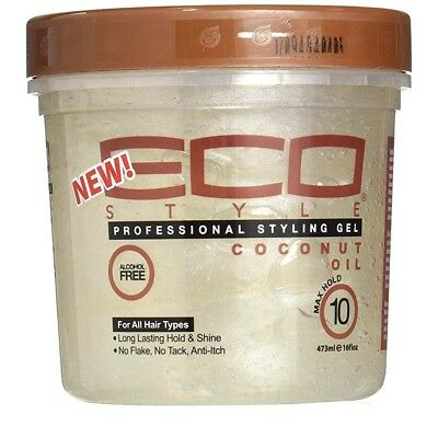New ECO Styler Professional Styling Coconut Gel Maximum Hold For All Hair 16 Oz.