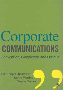 Corporate Communications - Convention, Complexi...-NEW-9781412931038 by Christen