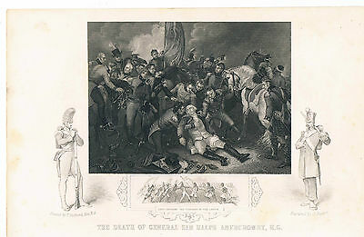 Engraving The Death Of General Sir Ralph Abercromby Kg At Alexandria 1801