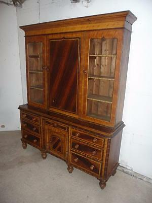 A Most Stunning Originally Painted Large 2 Piece Victorian Mid Wales Dresser