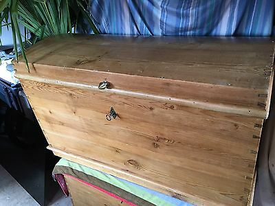 Antique Pine Done top Chest / Blanket Box