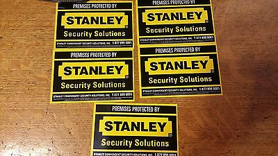 Stanley Security Stickers -Large - Lot of 5 - Free shipping