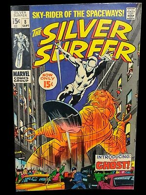 The Silver Surfer #8 (Sep 1969, Marvel) VERY GOOD CONDITION * John Buscema art
