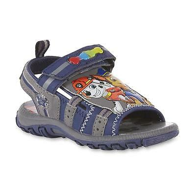 NEW Boys Toddler Light Up Sandals Paw Patrol Defect Size 7 Chase Reduced!