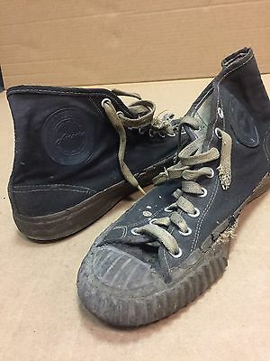 RARE Vintage SEARS JEEPERS Black Label Basketball Sneaker Hi-Top Shoes. US.  8.5