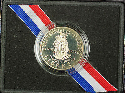 1989 United States Congressional Half Dollar Proof Coin OGP with COA