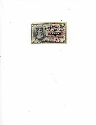 10 Cent 4th Issue Fractional Currency, Choice Uncirculated, Fr 1258, NICE!!