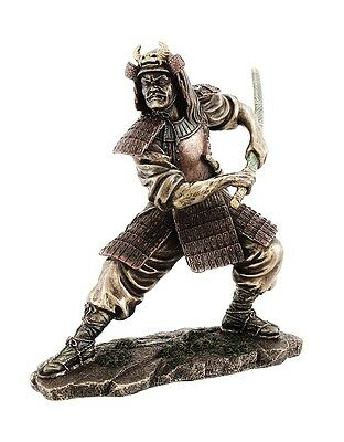 "8.25"" Samurai in Fighting Stance Collectible Statue Figurine Warrior Oriental"