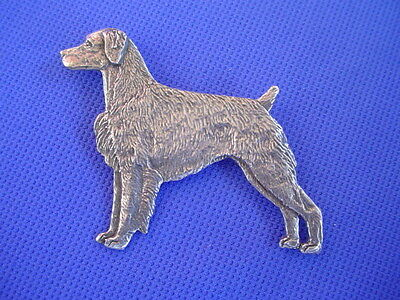 Brittany spaniel pin #79A Pewter dog jewelry by Cindy A. Conter SPORTING breeds
