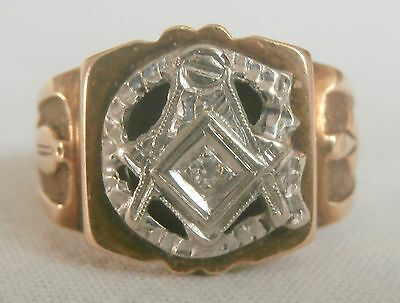Gold, Platin Freimaurer Siegelring-Gold, platinum freemason seal ring