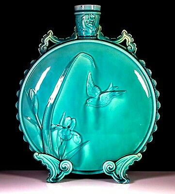 Antique Chinese Jade Royal Worcester Large Moon Flask Vase C.1878