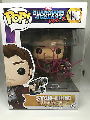 Chris Pratt signed FUNKO POP figure Guardians of the Galaxy