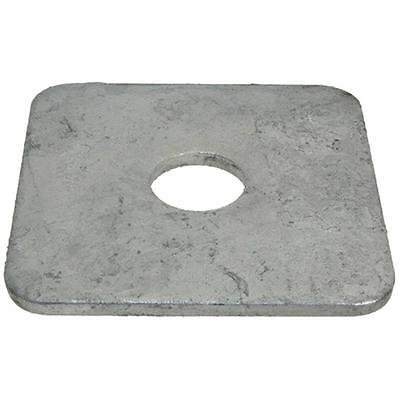 Square Heavy Washer M12 (12mm) x 65mm x 65mm x 5mm Metric SQR HDG Galvanised