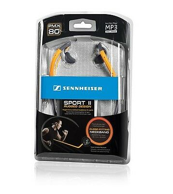 New Sennheiser PMX 80 Sport II  Headphones  (Orange) Close Fitting Neckband - UK