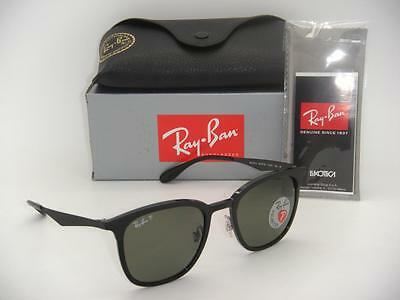 New Authentic Ray-Ban RB 4278 6282/9A 51mm Black Frame / Green Polarized Lenses