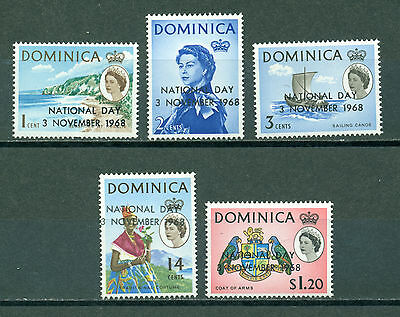Dominica Scott #228-232 MNH OVPT National Day $$
