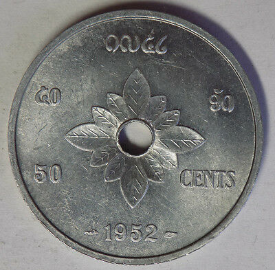 Laos 50 Cents 1952 coin - High Grade