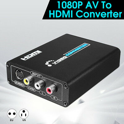 3D HD 1080P 1 IN 2 OUT HDMI Splitter Duplicator Amplifier Switch Box AC Adapter