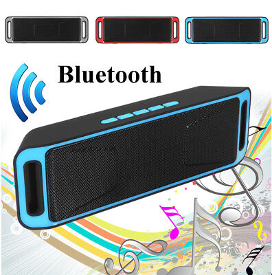 Mini Portable Wireless Bluetooth Speaker Stereo Subwoofer TF USB AUX Boombox AU