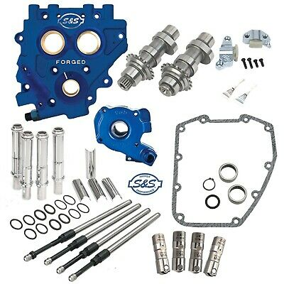 S&S 585C Chain Drive Cam Camchest Kit w/ Pushrods Oil Pump Plate Harley 07-17