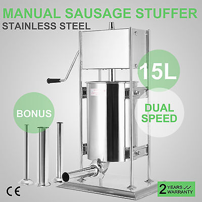 15L Sausage Filler 304 Stainless Steel  Tiltable Barrel Vertical Factory Price