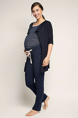 NEW Esprit Maternity Trousers with under-bump waistband NIGHT BLUE