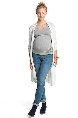 NEW Esprit Maternity maternity essential scoop neck t-shirt WASHED CARBON