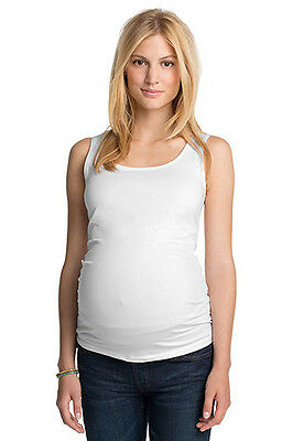 NEW Esprit Maternity Maternity basic cotton tank WHITE