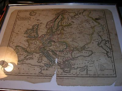 Antique Map 1821 Map of Europe
