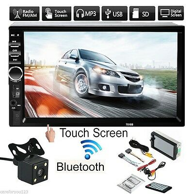 7'' Double 2Din In Dash Stereo Car MP5 Player USB Bluetooth Radio + Camera AU