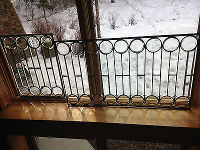 Authentic Antique Beveled Glass Windows, 2 pieces, rare style