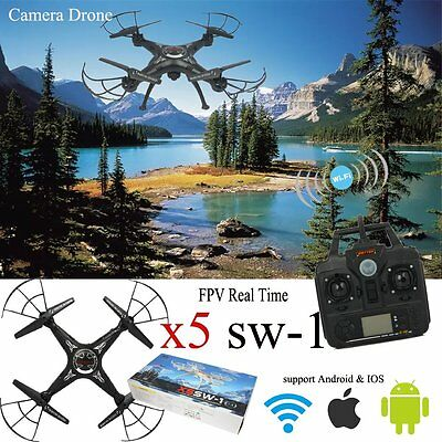 NEW X5SW-1 Wifi FPV 2.4G 4CH RC Quadcopter Drone 2.0 MP HD Camera Helicopter