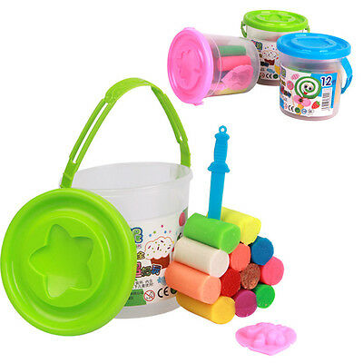 8/12/14colors DIY Plasticine Clay Air Drying Soft Polymer Modelling +Tools Toys