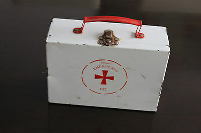 Vintage Metal wright emergency First Aid Kit Empty