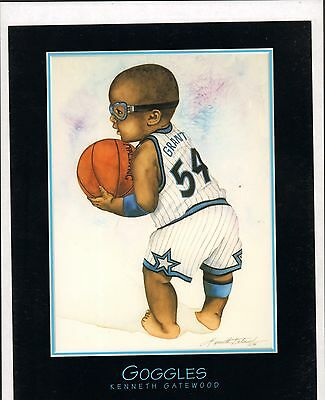 Lot of 4 VERY CUTE 8x10 Baby Room Decor Sports Prints Kenneth Gatewood