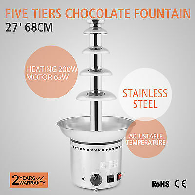 "27"" Chocolate Fondue Fountain 68CM Stainless Baby Party Buffet Wedding"