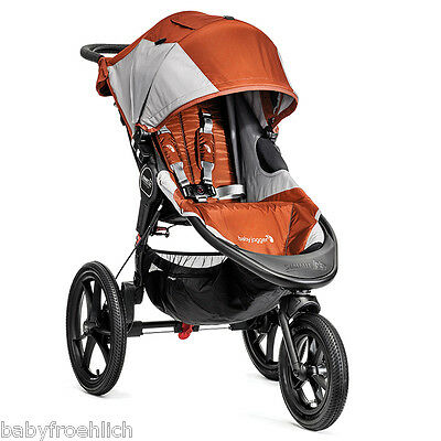 Baby Jogger Summit X3 Grey/Orange Dreirad 3-Rad Sportwagen NEU!