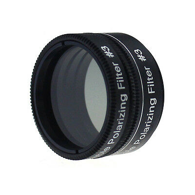 "Brand New 1.25"" Variable Polarizing Filter No3 for Telescope Eyepiece Cut Light"